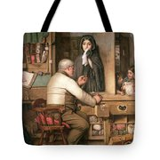 At The Pawnbroker Tote Bag by Thomas Reynolds Lamont
