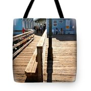 At The Piers End Tote Bag
