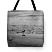 At Twilight In Black And White Tote Bag