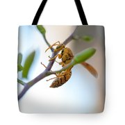 At Work. Busy Bee Tote Bag