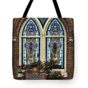 Athens Alabama First Presbyterian Church Stained Glass Window Tote Bag