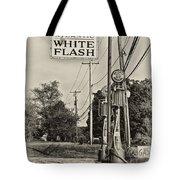 Atlantic White Flash Tote Bag