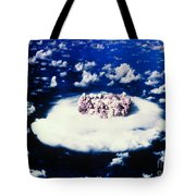 Atomic Bomb Test Cloud Tote Bag by Science Source