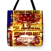 Atomic Fire Ball Tote Bag