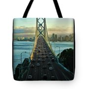 Atop Of San Francisco Bay Bridge Tote Bag