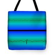 Atrial Flutter & Normal Heart Beat Tote Bag