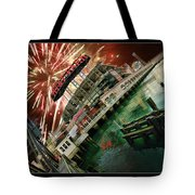 Att Park And Fire Works Tote Bag