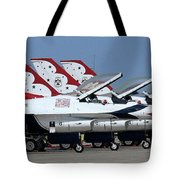 Attention Thunderbirds Tote Bag