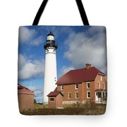Au Sable Lighthouse 3 Tote Bag