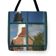 Au Sable Lighthouse Abstract 1 Tote Bag