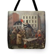 Auction In Chatam Street Tote Bag