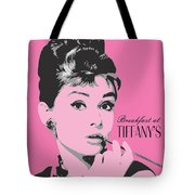 Audrey Hepburn - Pop Art Portrait Tote Bag