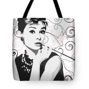 Audrey With A Twist Tote Bag