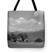 August Hay 75th  St Boulder County Colorado Black And White  Tote Bag