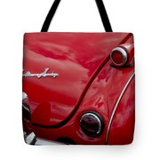 Austin-healey Tail Light And Emblem Tote Bag
