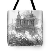 Austrian Revolution, 1848. Conflict At The University Of Vienna, Austria, During The Revolution Of 1848. Wood Engraving From A Contemporary English Newspaper Tote Bag