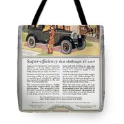 Automobile Ad, 1926 Tote Bag