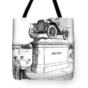Automobile Cartoon, 1914 Tote Bag