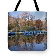 autum at the Lake Maggiore Tote Bag by Joana Kruse