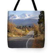 Autumn And Mt Shasta Down The Road Tote Bag