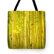 Autumn Aspens Vertical Image  Tote Bag