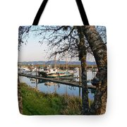 Autumn At The Harbor Tote Bag by Pamela Patch