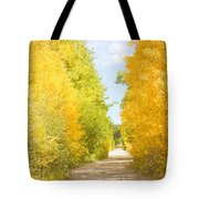 Autumn Back County Road Tote Bag