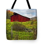 Autumn Barn Painted Tote Bag