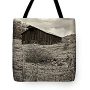 Autumn Barn Sepia Tote Bag