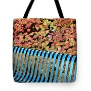 Autumn Blue Bench Tote Bag