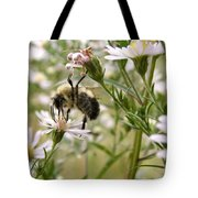 Autumn Bumblebee And Flowers Tote Bag