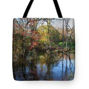 Autumn Colors On The Pond  Tote Bag