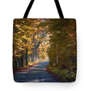 Autumn Country Road - Oil Tote Bag