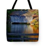 Autumn Crosses The Bridge - Greeting Card Tote Bag