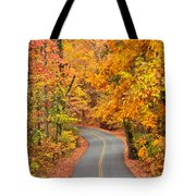 Autumn Drive Signal Mountain Tote Bag