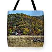 Autumn Farm Painted Tote Bag