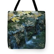 Autumn Foliage Floats Upon The Surface Tote Bag