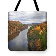 Autumn Foliage Scenery Viewed From French King Bridge Tote Bag