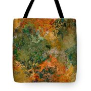 Autumn Forest Tree Tops Abstract Tote Bag