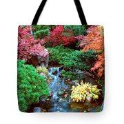 Autumn Garden Waterfall I Tote Bag