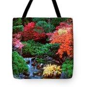 Autumn Garden Waterfall II Tote Bag
