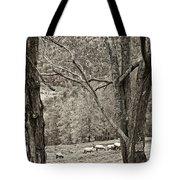 Autumn Grazing 2 Sepia Tote Bag