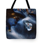 Autumn Ice In A Creek Tote Bag