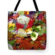 Autumn In Water Tote Bag