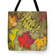 Autumn Leaf Collage Tote Bag