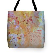 Autumn Leaf Splatter Tote Bag