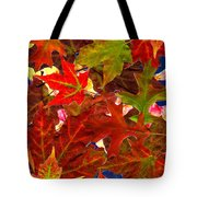 Autumn Leaves Collage Tote Bag