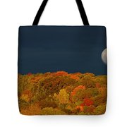 Autumn Moon Morning Tote Bag
