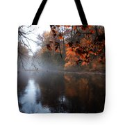 Autumn Morning By Wissahickon Creek Tote Bag