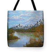 Autumn Mountains Lake Landscape Tote Bag